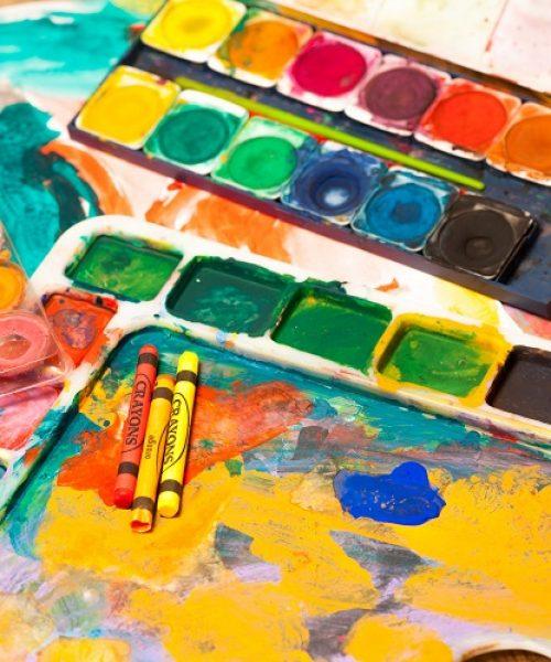 art-supplies-paint-crayons